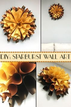 This easy DIY starburst wall art will highlight any room. Make it as big or small as you want, and with JAM Paper you are sure to make a big statement no matter the size! LEARN THE STEPS HERE!
