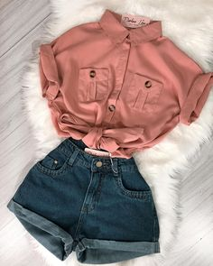 Untitled Source by outfits verano Cute Teen Outfits, Cute Comfy Outfits, Teenager Outfits, Cute Summer Outfits, Retro Outfits, Outfits For Teens, Stylish Outfits, Girls Fashion Clothes, Teen Fashion Outfits