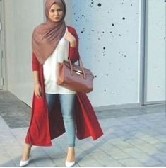 warm colors hijab outfit- Fashionista hijab trends http://www.justtrendygirls.com/fashionista-hijab-trends/