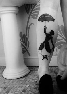 adorable Mary Poppins tattoo