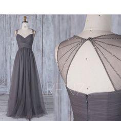2017 Charcoal Gray Bridesmaid Dress Ruched Sweetheart Wedding