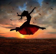Photo about Dramatic image of a woman jumping above the ocean at sunset, silhouette. Image of ballet, jumping, drama - 7400329 Quotes Enjoy Life, Quote Life, Psalm 30, Isaiah 26, The Dancer, Fred Astaire, Lets Dance, Praise Dance, Worship Dance