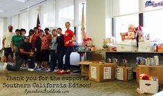 THANK YOU to the team from Southern California Edison that collected and donated over 2,000 items for Operation Gratitude care packages!