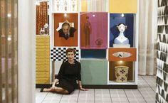 Susan and Alexander Girard at the Herman Miller Show. Vintage interior design, mid-century modern architecture