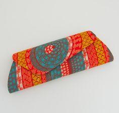 african fabric clutch.