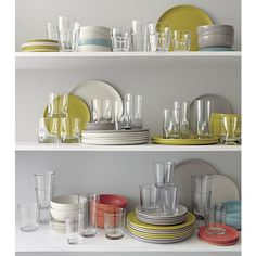 Carley Clear Highball Glass | Crate and Barrel