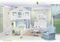 Magical Place Toddler's and Kid's Room Set by SIMcredible Designs for The Sims 4