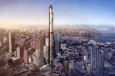 the tower could rise to a total height of 1,000 feet (305 meters), accommodating 550 residential units across 90 floors.