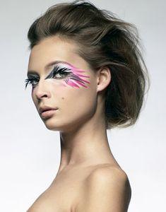 Tiiu Kuik creative eye makeup birds