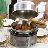 Are those meatballs? Cobb Portable Charcoal Grill