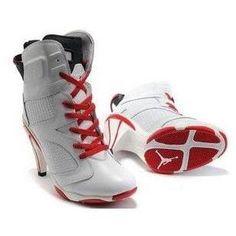 b32b7eed2197 Air Jordan 6 High Heels in White Red Jordan Heels