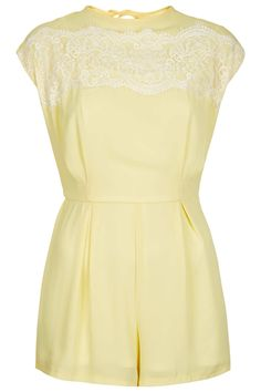 **Eyelash Playsuit by Love - Love - Clothing Brands - Clothing - Topshop