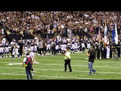 Drew leads the Who Dat chant after coin toss. VERY cool when he does. (less than a min. video)