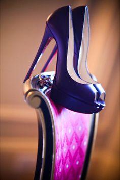 Purple Wedding Shoes | http://simpleweddingstuff.blogspot.com/2014/01/purple-wedding-shoes.html