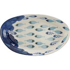 "Azul 19.25""x12"" Platter in Serving Platters | Crate and Barrel"