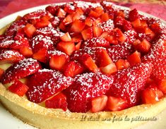 Traditional strawberry tart {with pastry cream} - Strawberry pie recipe - Easy Smoothie Recipes, Easy Smoothies, Good Healthy Recipes, Sweet Recipes, Snack Recipes, Coconut Recipes, Cream Recipes, Strawberry Jello Pie, Homemade Frappuccino