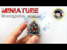 미니어쳐 크리스마스 트리 & 스노우볼 만들기 Miniature - Christmas tree & snow globe / 미미네 미니어쳐 - YouTube