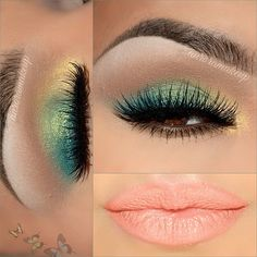 """"""" Crazy beautiful springtime #motd from @auroramakeup! This beauty's look includes Motives eye shadow base, eye shadow in BLIZZARD on brow bone, GOLD…"""""""