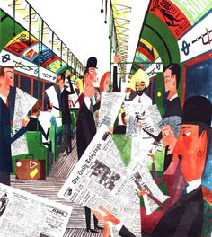 'The London Underground' by Miroslav Sasek (W017)