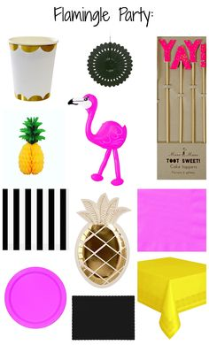 Party like a Pineapple with the Bitty Bash Flamingle Party Pack. Festive flamingos and tropical pineapples will add a touch of summer to any occasion. Don't let party planning ruffle your feathers; Bitty Bash can help you host the perfect Flamingle!
