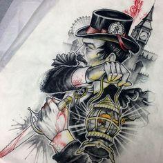 First day at Kapala and got to spend it making handsome serial killers! (at Kapala Tattoo) Tattoo Sketches, Art Sketches, Neo Tattoo, Tattoo Art, Barber Tattoo, Arte Obscura, Tattoo Flash Art, Biblical Art, Desenho Tattoo
