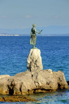 Girl with a seagull-Opatija