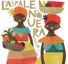 Las palenqueras. Maya Hanisch. Colombia Art And Illustration, Illustrations Posters, Zine, Maori Designs, Guache, Painting Patterns, Watercolor Flowers, Illustrators, Maya