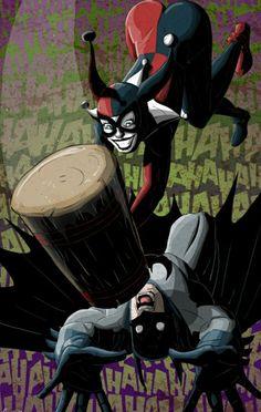 #HarleyQuinn hammering #Batman #comics