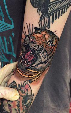 100 tiger tattoo designs for men - king of beasts and jungle. Tattoos Skull, Forearm Tattoos, Girl Tattoos, Sleeve Tattoos, Dope Tattoos, Tatoos, Tatto Ink, Tatoo Art, I Tattoo
