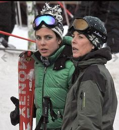 Charlotte and Princess Caroline hit the slopes