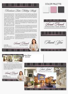 """Classic and stylish #branding, """"Slim Line"""" offers focused attention on you and your listings."""
