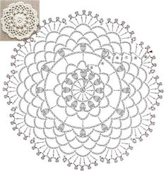 ru / Фото - Bag arrange and motif pattern - accessories Free Crochet Doily Patterns, Crochet Circles, Crochet Motifs, Crochet Diagram, Crochet Chart, Crochet Stitches, Lace Doilies, Crochet Doilies, Crochet Flowers