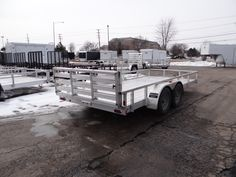6 x 10 angle iron utility trailer this is a very nice 6 x 10 open aluminum 7 x 16 utility trailer by atc a bi fold