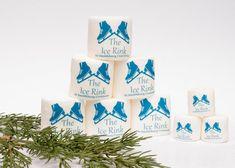 12 enorme logo personnalisé personnalisé monogramme guimauves anniversaire cotillons filles spa fête hiver rose faveur idée