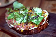 Falling in love with beef tartare all over again wtih Bar Tartine's beef tartare toast