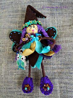 El Rinconcito de Zivi: broches pequeñas hadas hechas a mano- handmade sma...