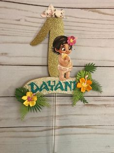 Moana Party Decorations, Banner Letters, Moana Birthday, Number Cakes, Little Flowers, Etsy Shipping, Custom Items, Tinkerbell, Cake Toppers