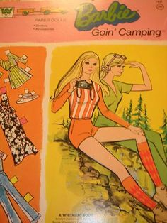 Vintage Whitman Barbie PJ Goin Campin Country camper Paper Dolls | eBay