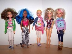 Liv Doll Lot All American Girls w Moxie 5 Clothes Wigs ft Monster High Black   eBay