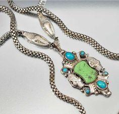 Rare Czech Neiger Bros Snake Art Deco Necklace