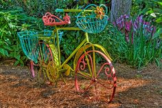 Garden Bicycle  In a garden in Williamsburg, VA.