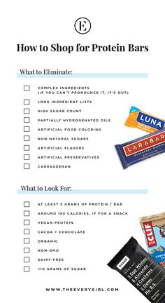 how to shop for the best protein bars