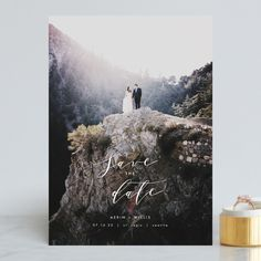 Ever After Save The Date Cards by AK Graphics | Minted
