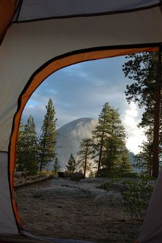 viewfromthetent: half dome from our tent! by jkenning on Flickr.