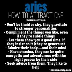 How to attract an Aries