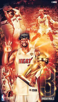 Three-time Champion Dwyane Wade. #Flash #NBAFinals