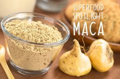 Superfood Spotlight: Maca!  People are going crazy over maca. The hot new superfood on the block  maca hasbeen touted as hormone balancing energizing and stress  relieving. But what actually is Maca and why should you eat it?  What is Maca?  Maca is a cruciferous vegetable in the mustard family related to  radishes and turnips. Its native to the Andes Mountains of Peru. Though  youre likely to only spot the beige-colored kind in stores there are  actually 13 colorsranging from white to…