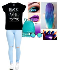 """Blue & Purple"" by iammrsclifford ❤ liked on Polyvore featuring NYX, Casetify and MICHAEL Michael Kors"