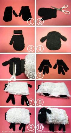 How to make a doll out of a glove