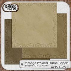Preview - VintagePressedFrame Papers 600